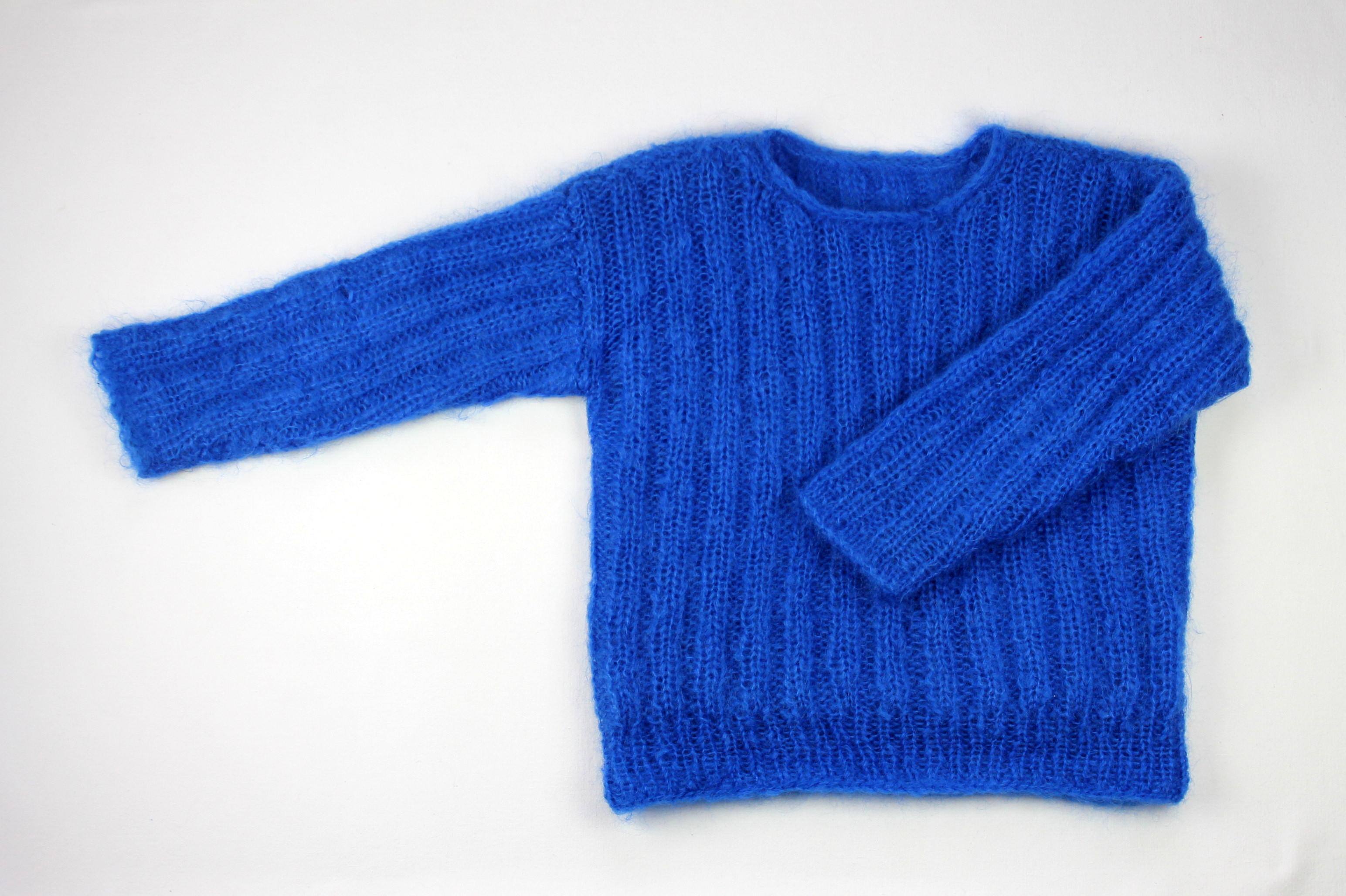 un pull bleu  u00e9lectrique  u2013 damn good caramel